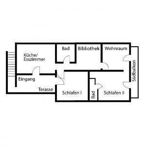 Grundriss gesamte Wohnung | Zellerhorn